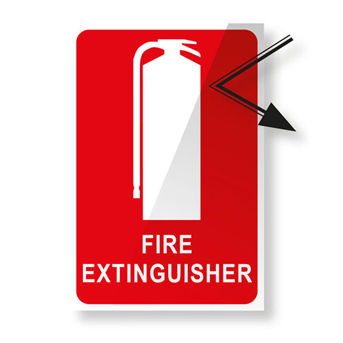 Fire Extinguisher Sign - Reflective