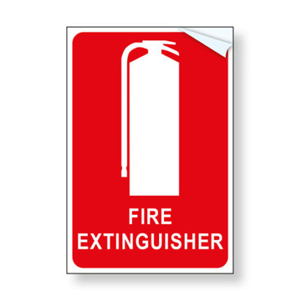 Fire Extinguisher Sign - Vinyl
