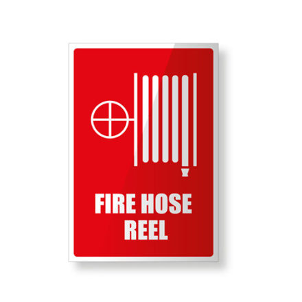 Fire Hose Reel Sign - Plastic