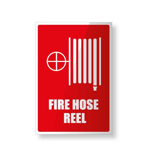 Fire Hose Reel Sign - Plastic