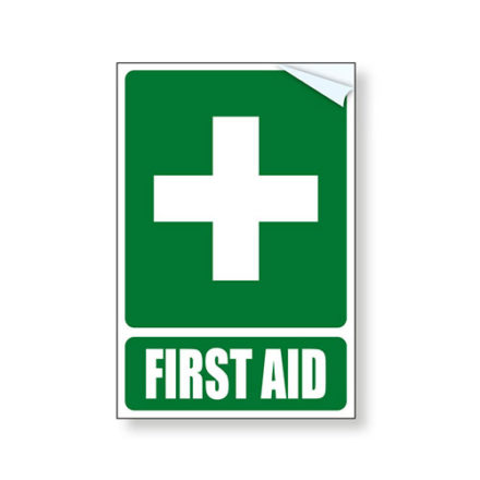 First Aid Vehicle Vinyl Sticker Sign